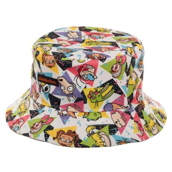 35d0dece2ceee Nickelodeon Bucket Hat All Over Print Characters
